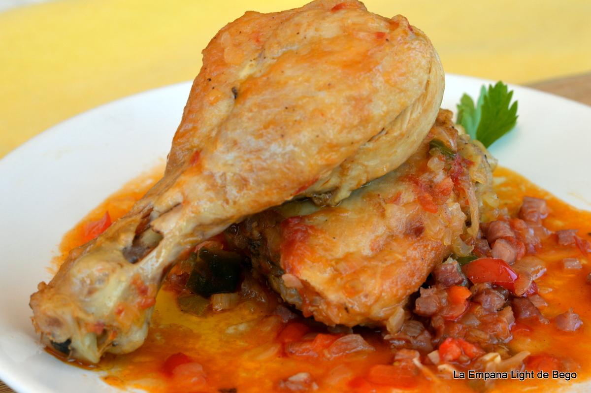 Cocinar Pollo Al Chilindron | La Empana Light De Bego Pollo Al Chilindron