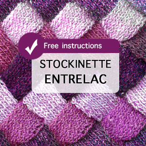 Stockinette Entrelac Knitting. Great tutorial to learn how to knit entrelac.