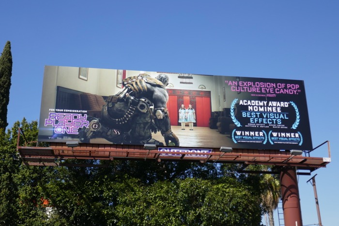Ready Player One Shining homage Oscar billboard