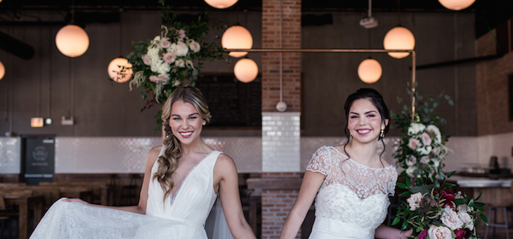 Must-See Bridal Inspo in an Industrial Style Brewery