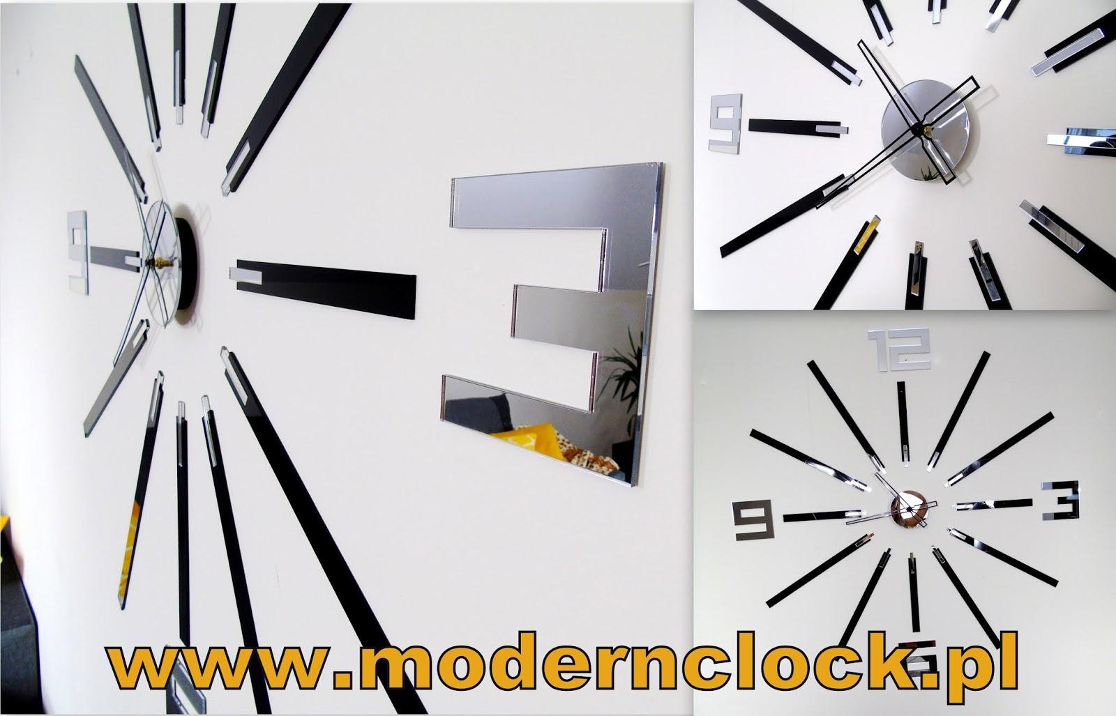 Duży, elegancki zegar marki ModernClock - Nowoczesny dodatek do Twojego wnętrza