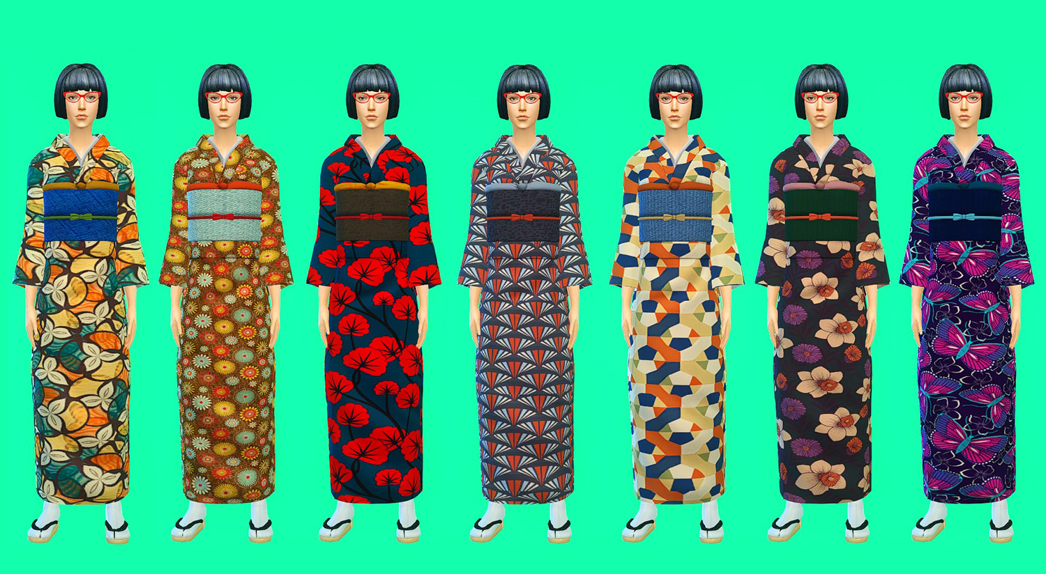 My Sims 4 Blog Kimono And Sandals By Kimu412