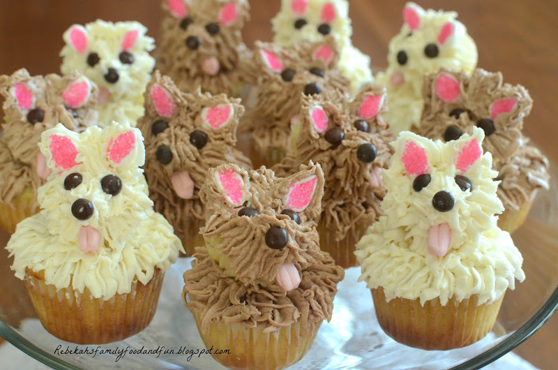 Family Food And Fun Puppy Cupcakes Our Girl Turns 7