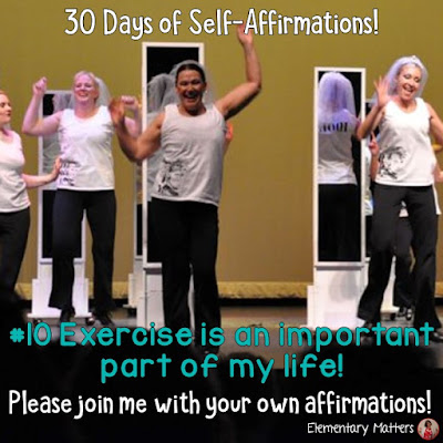 "30 Days of Self-Affirmations: Day10:  Exercise is an important part of my life. For 30 days, I will be celebrating my own ""new year"" with self-affirmations. Won't you join me? http://bit.ly/2LU1qJJ"