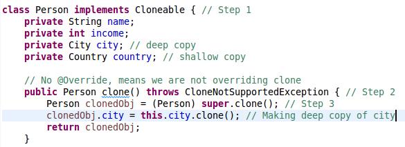 Java Cloning (Shallow Cloning, Deep Cloning)Example