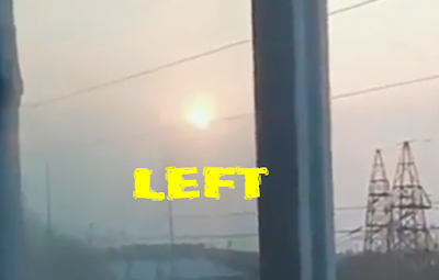 Here is the left so-called Sun or Nibiru in the video.