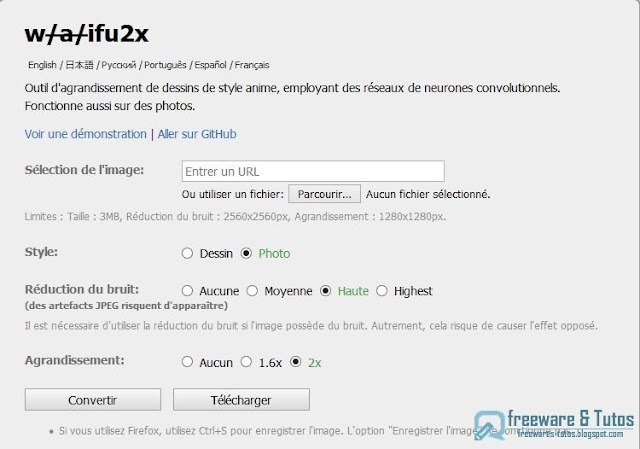 Waifu2x : un outil pour agrandir les images sans perte