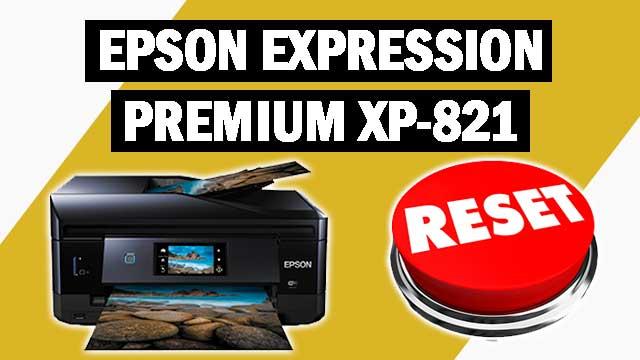Reset impresora Epson Expression Premium XP-821