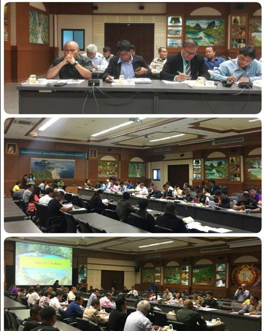 สภ.ทรายขาว จ.กระบี่เข้าร่วมประชุมคณะกรรมการศูนย์อำนวยการป้องกันและปราบปรามยาเสพติด