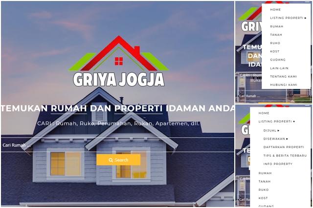 Website Griya Jogja Property Terbaru