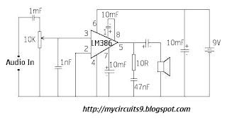 circuit diagram audio amplifier