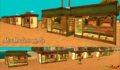 gta sa mod barracas de venda na praia (quiosques) em HD