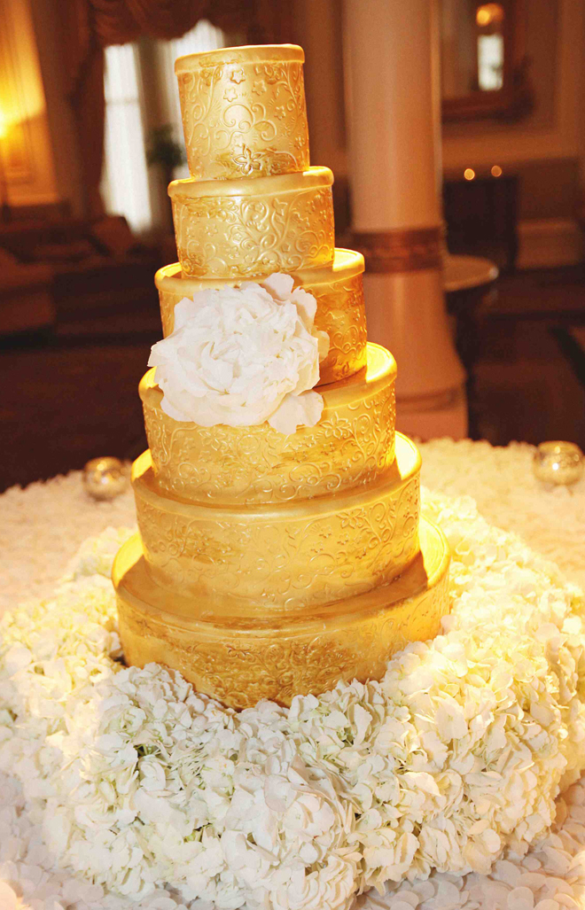 Gold Three Layer Cake