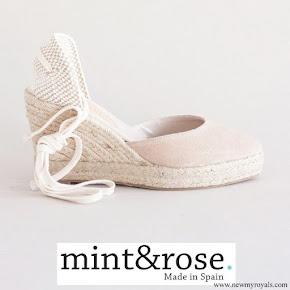 Queen Letizia wore Mint & Rose Sardinia Suede Shoes