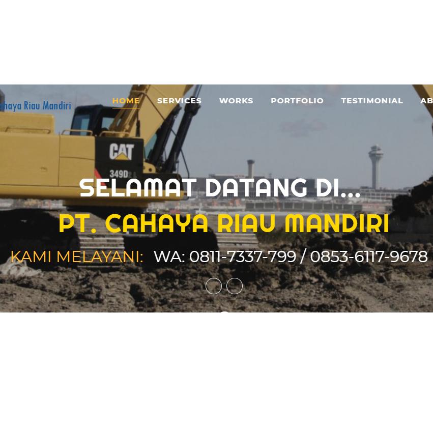 Peluncuruan Website PT. Cahaya Riau Mandiri