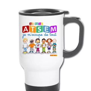idée cadeau fin d'année scolaire atsem nounou thermos mug personnalisé