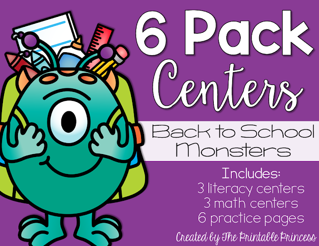 These Back to School monsters are sure to be a hit in your Kindergarten classroom this fall! Students will work on name recognition, writing, math, and more through this fun resource! Plus the free download is sure to be a hit as well! As a bonus, you can use this during the month of October to have some Halloween monster fun too! Click through to learn more and see how much your Kinders will enjoy their monster fun! {Also great in the preschool or 1st grade classroom!}