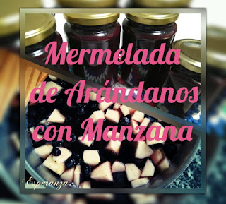 Mermelada De Arándanos Con Manzana
