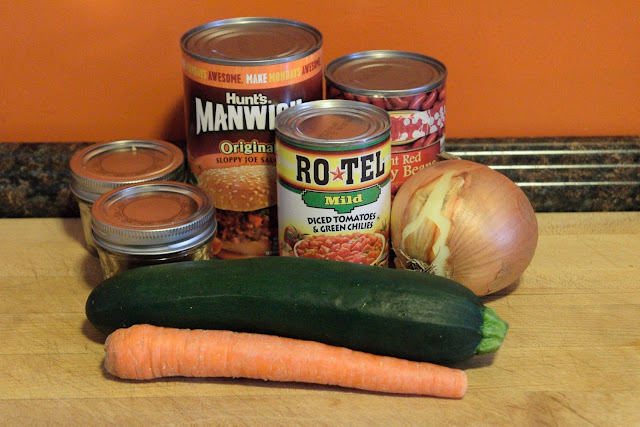 The ingredients needed for the Easy Vegetable Chili.