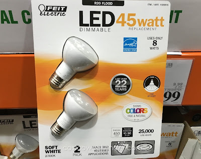 Colors are more realistic with the Feit Electric R20 Flood 45-watt LED Light Bulb