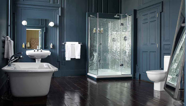Wonderful Grey And Blue Bathroom Ideas Pictures