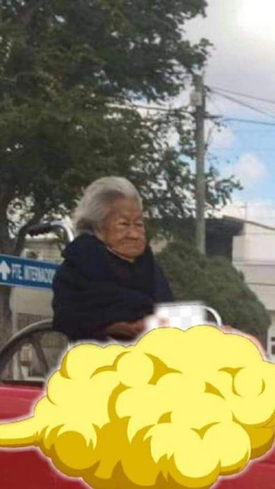 Pobre abuelita, la mandaron atrás e Internet le hace memes