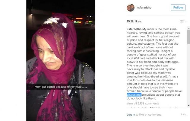 Wanita Muslimah Ini Dilempari Telur Hanya Karena Mengenakan Jilbab