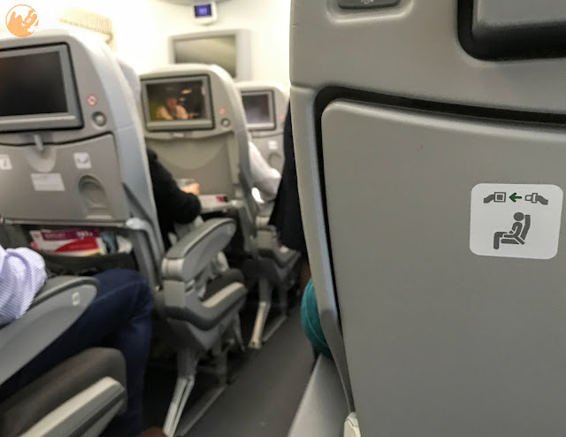 JALエコノミークラス座席 JAL Economyclass-flight-seat-early787
