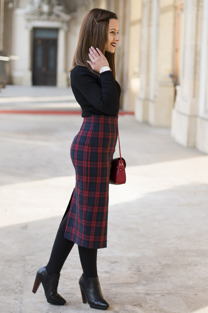 vision on fashion tartan skirt