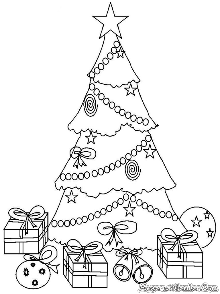 Mewarnai Pohon Natal  Mewarnai Gambar