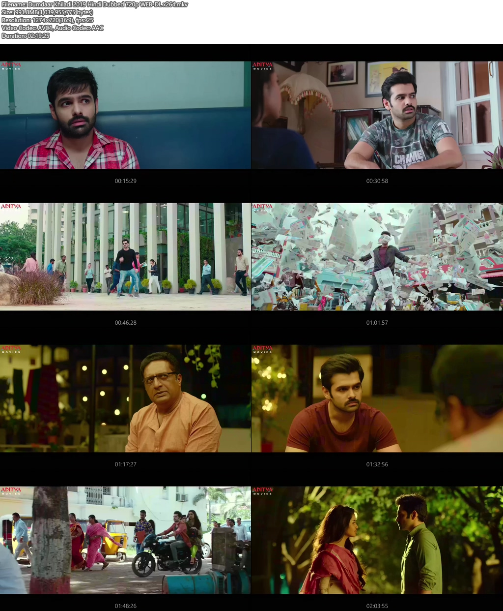 Dumdaar Khiladi 2019 Hindi Dubbed 720p WEB-DL x264   480p 300MB   100MB HEVC Screenshot
