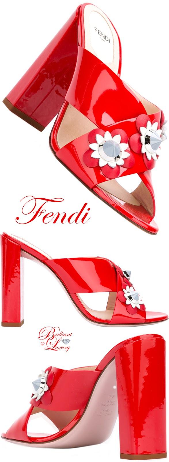 Brilliant Luxury ♦ Fendi Floral Heeled Mules