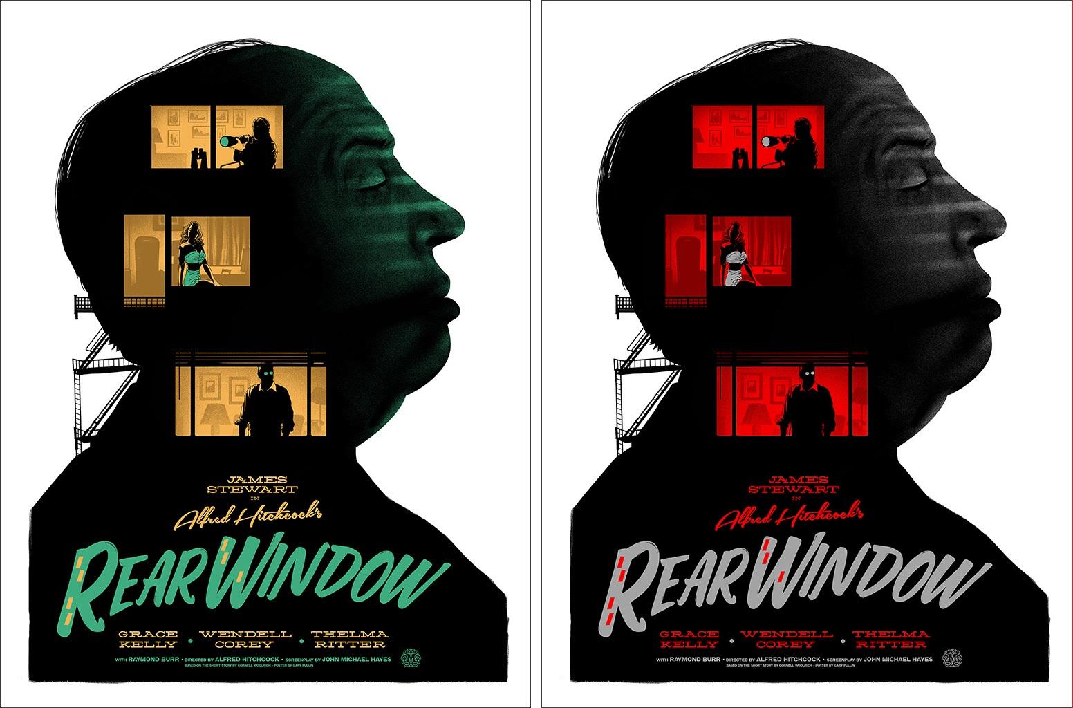 rear window movie poster screen print