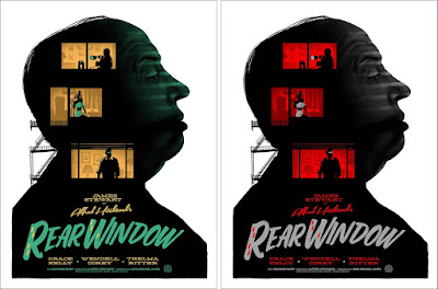 Alfred Hitchcock's Rear Window Movie Poster Screen Print by Ghoulish Gary Pullin x Mondo
