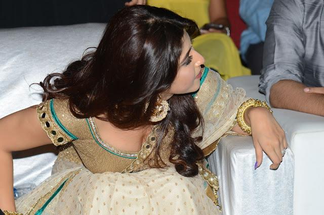 Sonarika Bhadoria aka Parvati of TV Show in Deep neck Choli Saree