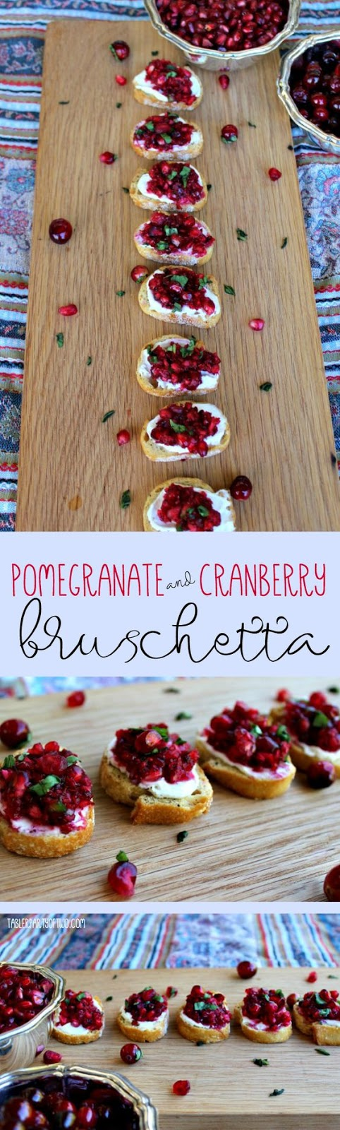 ★★★★☆ 4290 ratings    | Pomegranate and Cranberry Bruschetta #Pomegranate #Cranberry #Bruschetta #Fruit #Healthy
