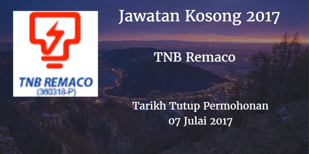 Jawatan Kosong TNB Remaco 07 Julai 2017