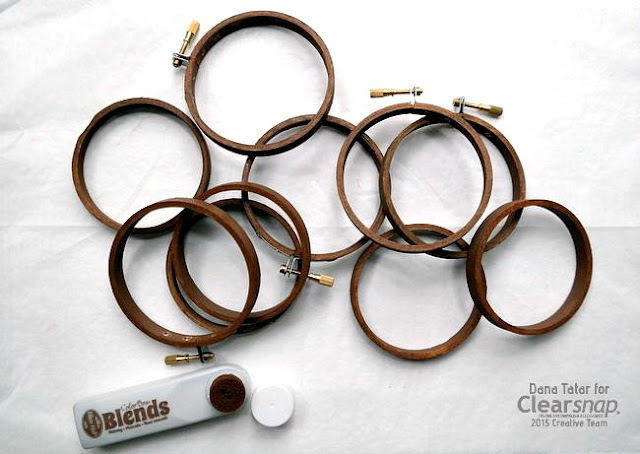 Nutmeg ColorBox Blends Stained Wood Embroider Hoops by Dana Tatar
