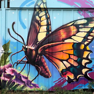 Laneway mural, butterfly