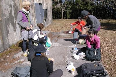 比叡山 山頂で昼食