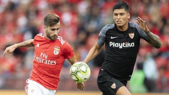 foto: Corriere dello Sport. Fonseca del Benfica e Correa in amichevole sabato
