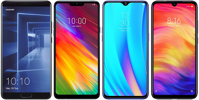 Huawei Mate 10 vs LG G7 Fit vs Realme 3 Pro vs Xiaomi Redmi Note 7