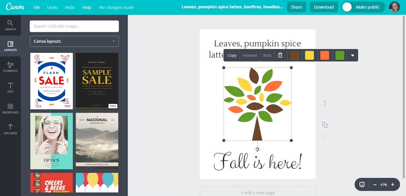 how to create a printable with canva