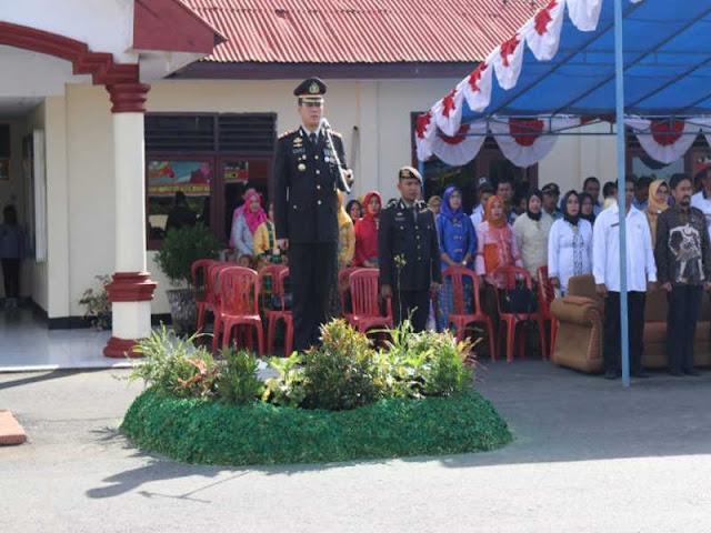 Polres Haltim Gelar Upacara HUT Bhayangkara ke 72