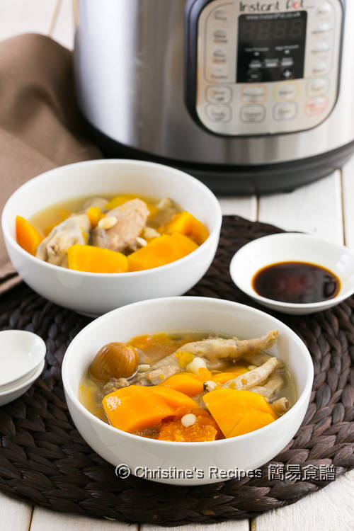 紅木瓜雞腳豬展湯 Papaya and Chicken Feet Soup Instant Pot01