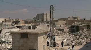 Photo of Azaz, Syria during the Syrian civil war