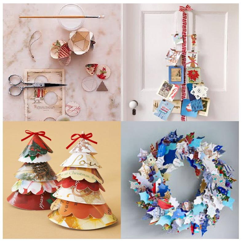 El mundo del reciclaje recicla tarjetas de navidad for Puertas decoradas navidad material reciclable