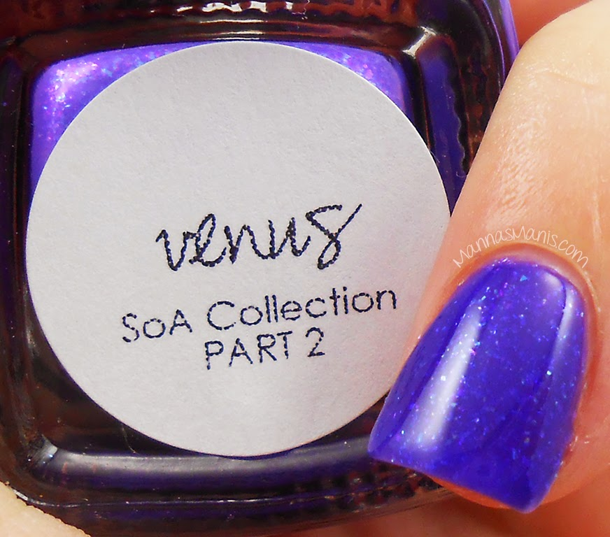 bliss polish venus, purple polish