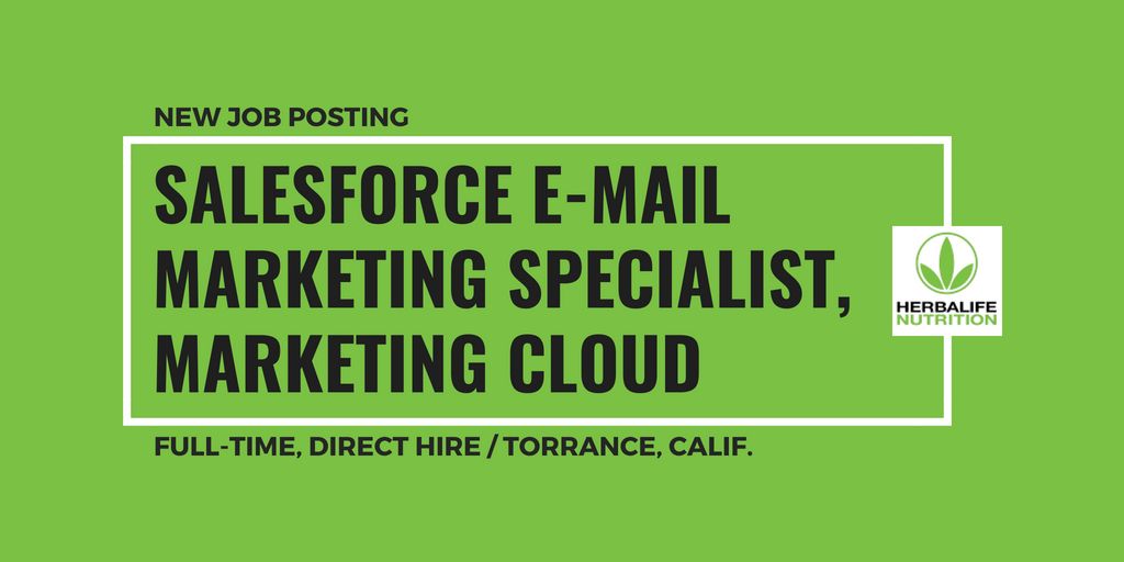 Email Marketing Jobs: Salesforce E-Mail Marketing Specialist
