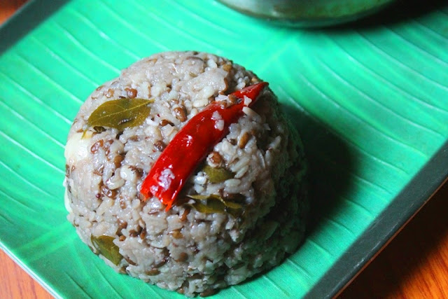 Ulundu Choru Recipe - Ulundhu Saadam Recipe - Urad Dal Rice in Pressure Cooker